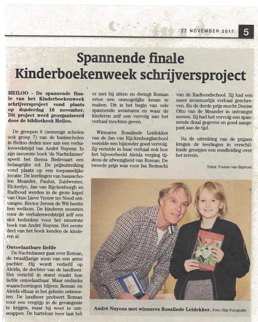 JvR school Heiloo wint schrijfproject